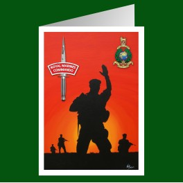 Royal Marines Commando Patrol Greetings Cards