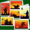 Pack of 6 Military Greetings cards