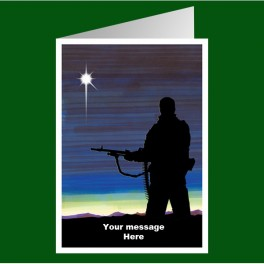 Personalised Royal Marines Christmas Card