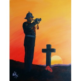 Last Post Military Canvas Print
